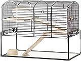 2 capa caja de almacenamiento de pequeños animales conejo jaula cobayas...
