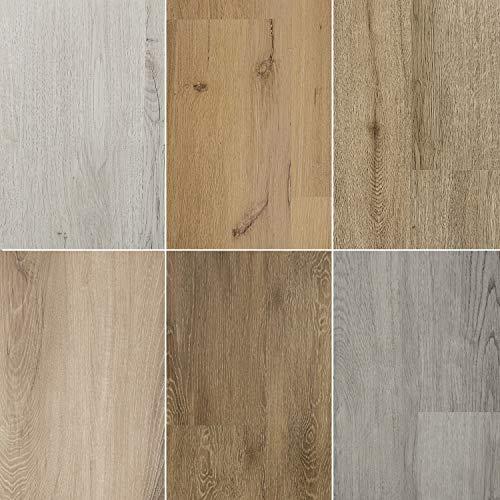 8.34 m² | Designboden + integrierte Trittschalldämmung | Grau | Klickvinyl | 5mm Stärke | 0.3mm | 1220 x 228