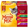 Meow Mix Tender Favorites Wet Cat Food, Poultry & Beef Variety Pack, 2.75 Ounce Cup (Pack of 24)