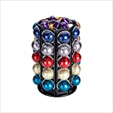 Rice rat Coffee Pod Carousel Holder for Nespresso Vertuoline With Central Additional Pods Storage For 40 Nespresso Vertuo Pods (Carousel-50+ Pods)