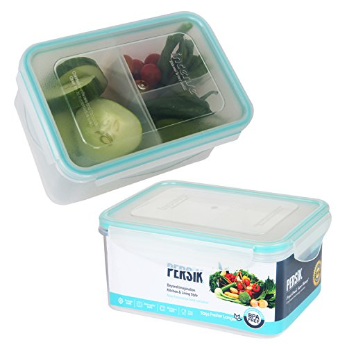 Bento Box for Kids Lunch Box - Small Meal Prep Containers Portion Control with 3 Removable Compartments - 37 oz. (1.1 L), Small Clear Food Storage Containers - Premium Quality - BPA free, Reusable