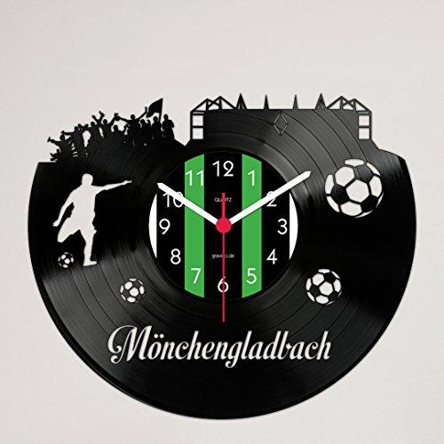 Gravinci.de Schallplatten-Wanduhr Mönchengladbach Fan