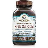 NutriGold Krill Oil Gold, 500 mg, 120 Liquid...