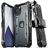 Vena vArmor Cover Rugged Compatible Con Apple iPhone 12 Pro Max (6.7'-inch), (Military Grade, Drop Protection) Case Protettiva Custodia Clip da Cintura con Supporto - Grigio