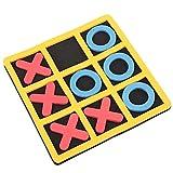 Alomejor Tic Tac Toe Travel Gioco da Tavolo Gioco Tic Bug Toe Giocattolo educativo per Bambini di Tutte Le età X e O Gioco di Viaggio