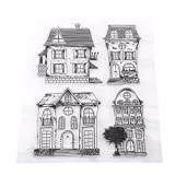 Clear Stamps Transparent Silicone Cartoon Stamps For DIY Scrapbook Photo Cards Album (House)