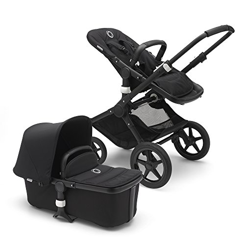 New Bugaboo Fox Complete Full-Size Stroller, Black - Fully-Loaded Foldable Stroller with Advanced Su...