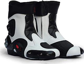 MGWA Genou VTT Bottes De Moto Chaussures De Course Décontractées Chaussures De Route Tout-Terrain Chaussures De Moto en Cu...
