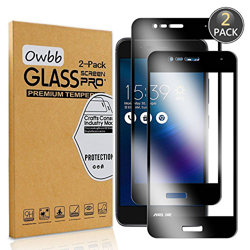 Owbb 2 protectores de pantalla de cristal templado para Asus ZenFone 3...