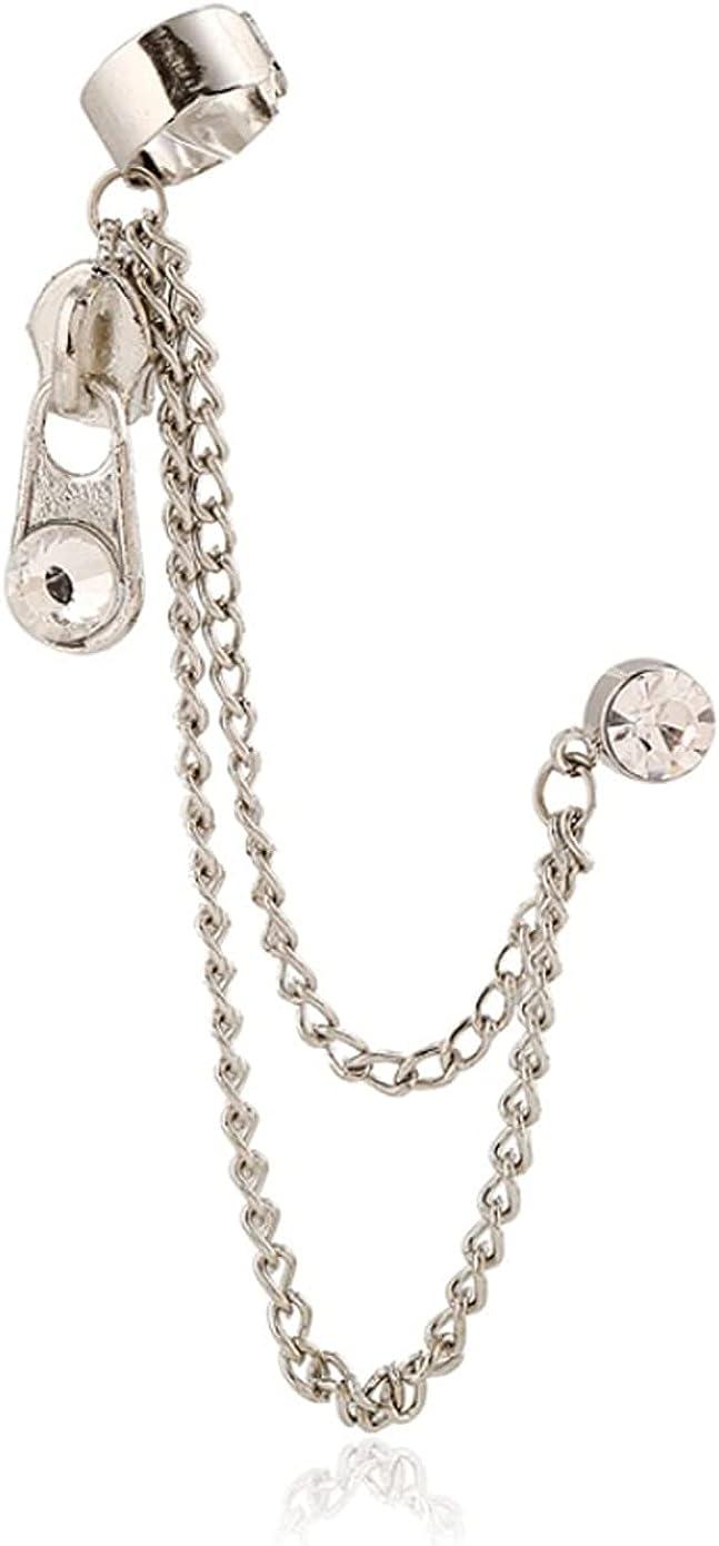 NIDEZHI Temperament Ear Buckle Earrings Tassel Earrings Women's Pin Ear Cuffs Wraps