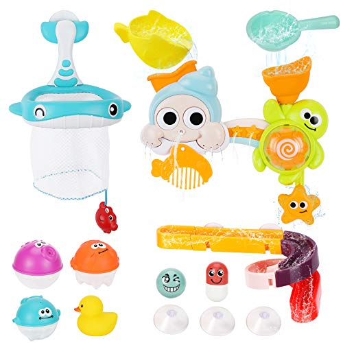 Bammax Badespielzeug, Baby Badewannenspielzeug, Wasserspielzeug, Spannendes Angelspiel, für Baby und Kleinkind, 1,2,3+ Jahre Alt