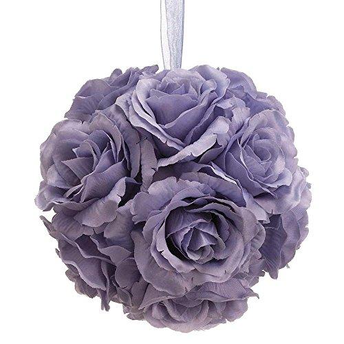 6' Rose Kissing Ball Lavender (Pack of 6)