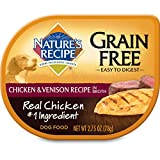 Nature's Recipe Easy to Digest Wet Dog Food, Chicken & Venison in Broth Recipe, 2.75 Ounce Can (Pack of 12), Grain Free