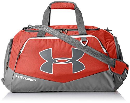 Under Armour Team Storm Undeniable Duffle Bag, Unisex, 1272783, Rot (600)/Silber, Einheitsgröße