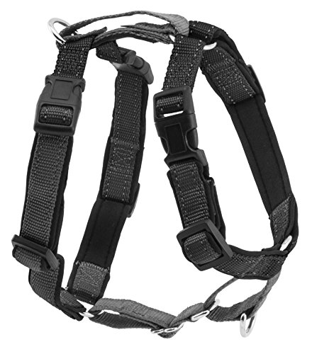 PetSafe 3in1 Harness, from The Makers of The Easy Walk Harness, Fully Adjustable No-Pull Dog Harness,Black,Medium