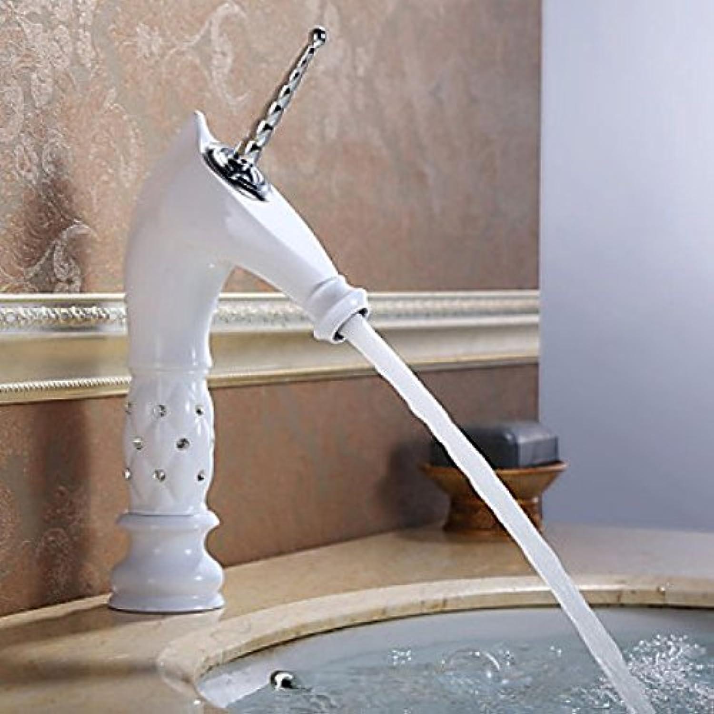 WASSERHAHN Badezimmer Tapete in wei, mit design-Einhorn Saum aus Keramik