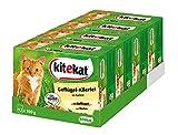 Kitekat Katzenfutter Nassfutter Geflügel-Allerlei in Gelee, 48 Portionsbeutel (4 x 12 x 100g)