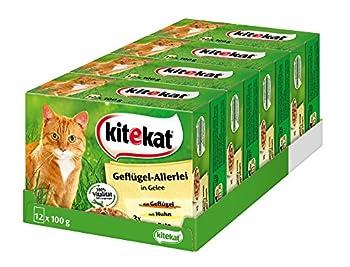 Nourriture pour chat Kitekat - Pâtée humide dans un sachet pratique de 100 g - Différentes variétés