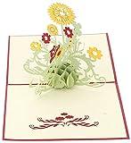Coco * Store 3d Pop Up Cards–Tarjetas de felicitación girasol Día Cumpleaños para madre gracias de Navidad