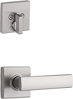 Kwikset 99710-012 Single Cylinder Interior Pack Only with Vedani Lever for Signature Series Low Profile Handlesets in Satin Nickel