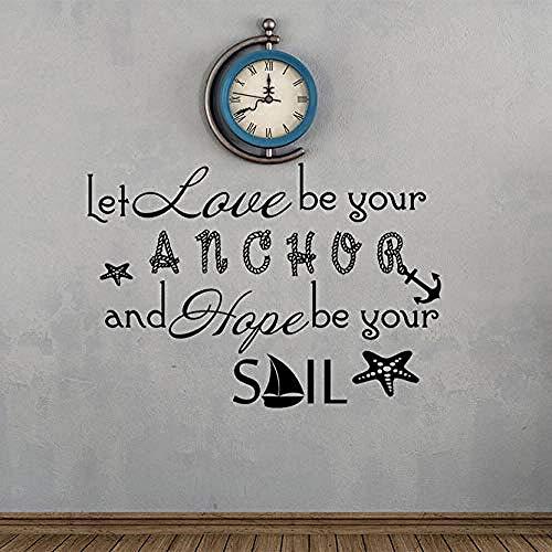Ich Hoffe, Sie Sind Eine Kerze Zitat Wandaufkleber Nautische Dekoration Kunst Aufkleber Selbstklebende Wandbild 60X42Cm