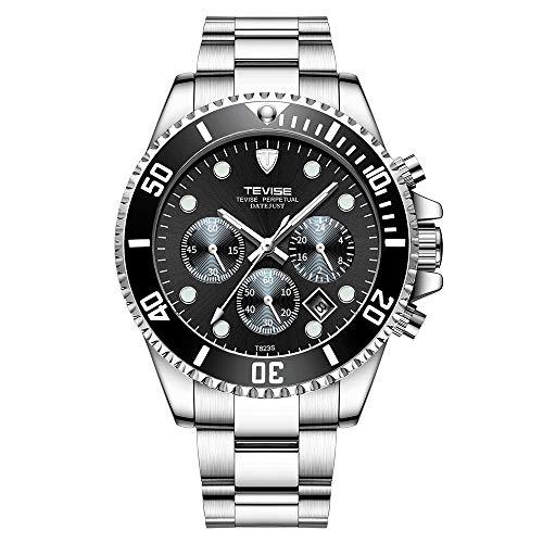 Zwbfu T823 Marca Hombres Reloj de Lujo Reloj de Cuarzo Reloj de Acero Inoxidable Relogio para Regalo