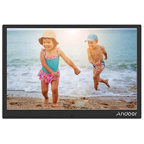 Andoer 13 zoll Digitaler Fotorahmen LED Metallrahmen mit Fernbedienung 1280 * 800 Auflösung 1080P Video Shuffle Play 4 Farbe Weihnachts- und Geburtstagsgeschenk