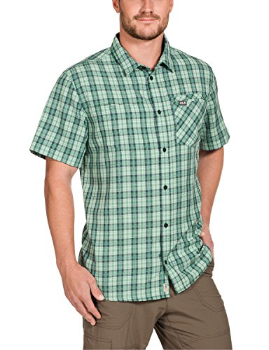 Jack Wolfskin Vent arthurs Shirt m Chemise pour Homme XXL Vert - Cucumber Green Checks
