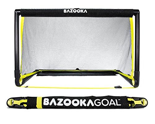 Bazookagoal Original Fußballtor Klappbar, Outdoor/Indoor-Set mit massivem Rahmen – Pop up Tor mit 1,20 x 0,75m