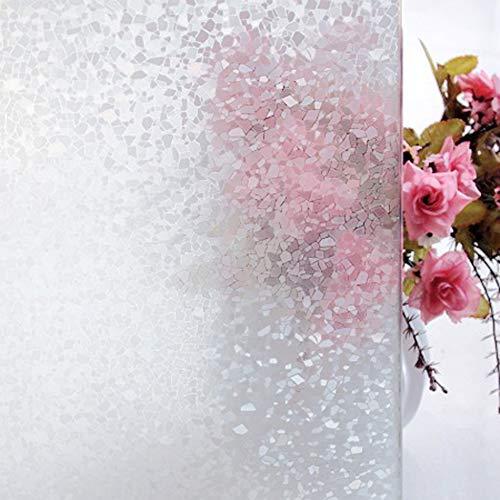 Tamia-Living milchglasfolie Fensterfolie Milchglas Duschkabinen Blickdicht Folie Fenster Selbstklebend Sichtschutzfolie Sichtschutz Statisch Haftend Glasdekor Steinzeug S024 (90 * 200cm)