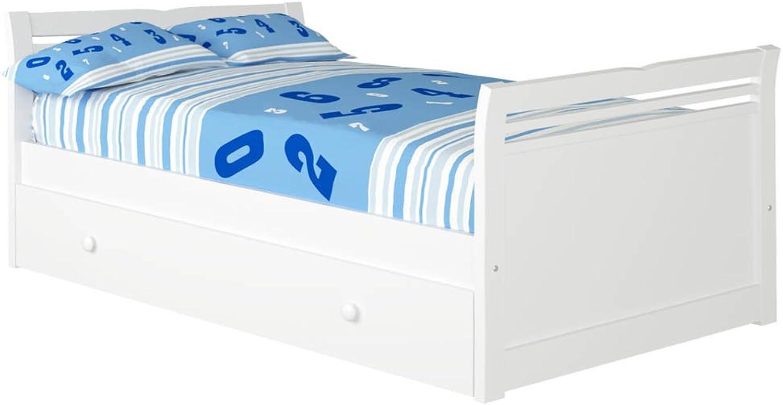 hermoso Cama Cama Cama Nido Alas (Colchón 105 x 200, blancoo)  Las ventas en línea ahorran un 70%.
