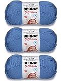 Bernat Softee Baby Yarn Solids (3-Pack) Blue Jeans 166030-30111