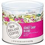New England Coffee, Donut Shop Blend, Light Roast Coffee, 30.5 Oz Can