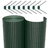 SONGMICS Canisse PVC pour Jardin Balcon terrasse Verte 90 x 400 cm GPF094L