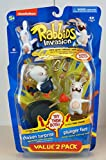 Raving Rabbids Invasion Series 2 Action Figure with Sound 2-Pack Chicken Suprise & Plunger Face
