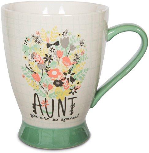 Pavilion Gift Company Aunt Ceramic Mug, 16 oz, Multicolored
