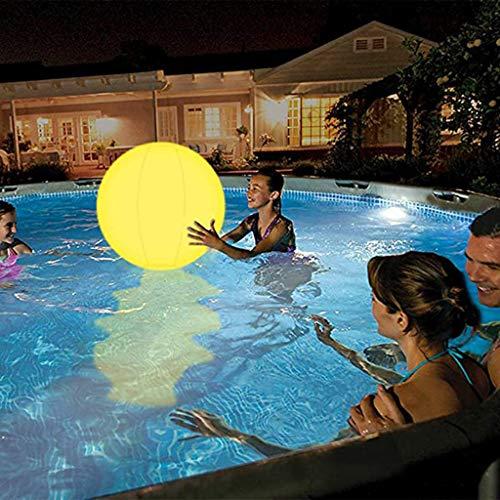MARTINSHARK Poolspielzeug 13 Farben LED Light Glow Ball丨16 '' Aufblasbarer Beach Ball mit Fernbedienung, für Beach Indoor Outdoor Spiele und Schwimmbad Party Dekorationen, mit einer Pumpe