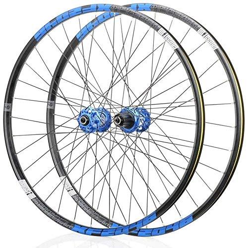 TYXTYX Set di Ruote per Bicicletta, Set di Ruote per Bici, Set di Ruote in Lega Leggera Mag, Set di Ruote MTB, Freno a Disco 8 9 10 11 Mozzo con Cuscinetti sigillati a velocità Rapida 32 Fori, E-26