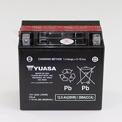 Batería YTX14L-BS de Yuasa, de 12V y 12Ah, sin mantenimiento, para Harley Davidson XG Street XL R Roadster X Sportster Forty-Eight N ESPFI Iron ABS XR