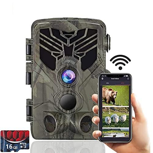 SUNTEKCAM WIFI Cámara de Caza 24MP 1520P Impermeable Cámara de vigilància, con Vision Nocturna Gran Angular de 120° Detección de Movimiento Cámara