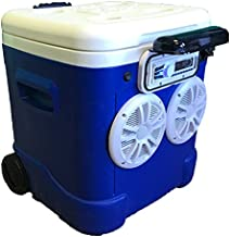 60qt Ice Chest Cooler Radio 360 Watts 72 Can Cap. 118db LOUD!!