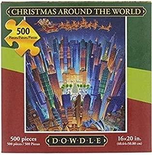 Dowdle Folk Art Christmas Around The World Jigsaw Puzzle, 500 Pieces