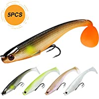 TRUSCEND Fishing Lures Paddle Tail 3.5in 9cm Swimbaits Soft baits Japan Formula Freshwater Saltwater bass Fishing Lure kit
