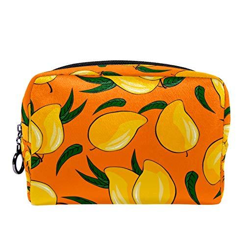 Cosmetic Bag Womens Makeup Bag for Travel to Carry Cosmetics,Change,Keys etc Ripe Mango