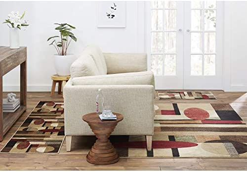 Home Dynamix Tribeca Jasmine Modern Area Rug Abstract Brown Green 3 Piece Set product image
