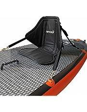 Nemaxx Comfort Zitting voor SUP met Zitting en Rugkussen - Stand Up Paddle Board Zadelhoes met Zittas, Kajak / Kano Seat - Non-Slip, Zwart