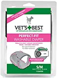 Vet's Best Perfect Fit Washable Female Dog Diaper, 1 count s/m