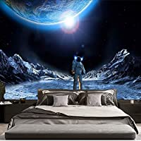 HYTGD壁掛け 壁飾け宇宙飛行士と月のタペストリーの壁掛けマクラメのタペストリーのリビングルームの家の装飾
