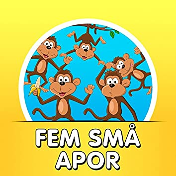 Fem små apor