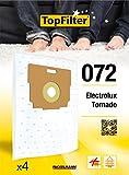 TopFilter 072, 4 sacs aspirateur pour Electrolux et Tonardo, boîte de sacs d'aspiration en non-tissé, 4 sacs à poussière (30 x...